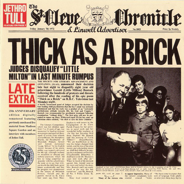 Jethro Tull Thick as a Brick, 1972