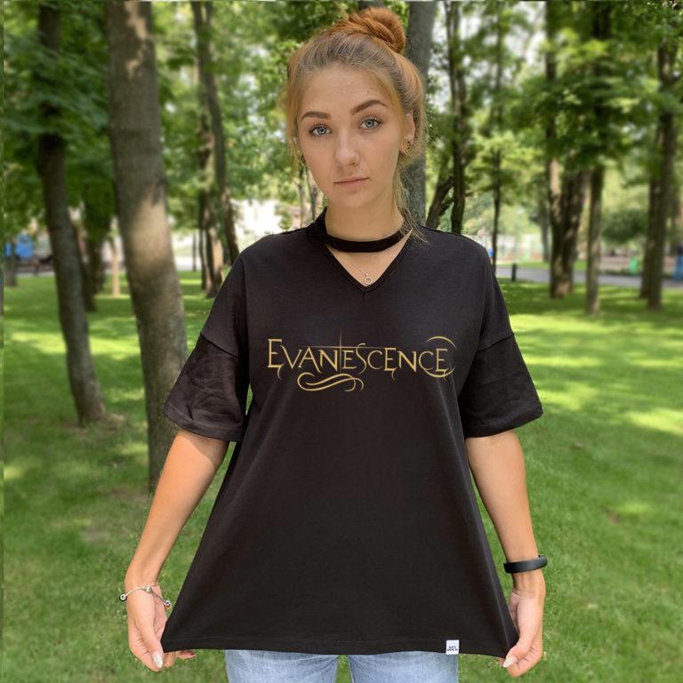Футболка с чокером Evanescence 4