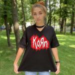 Футболка с чокером Korn 3