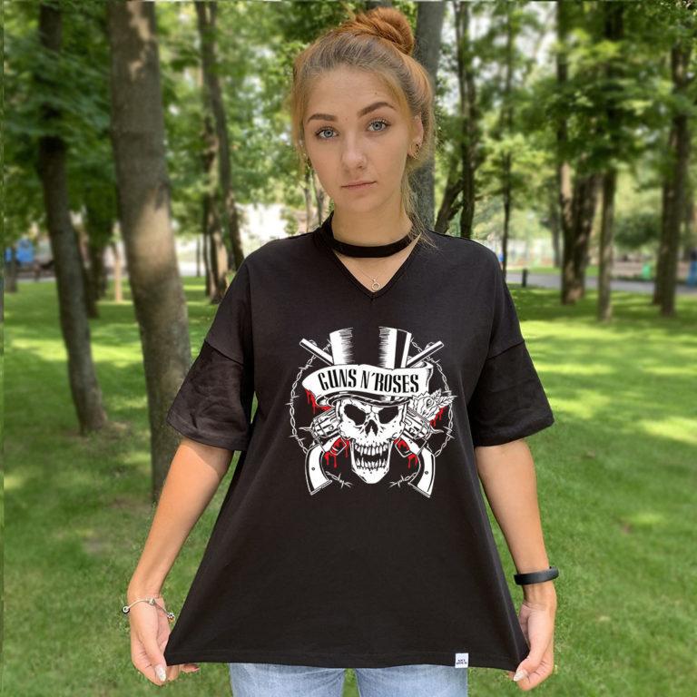 Футболка с чокером Guns N Roses 1