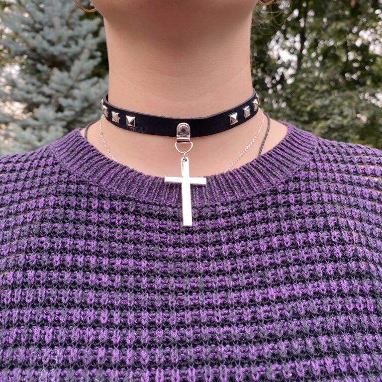 Купить Чокер с крестом